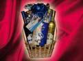 16. Kék Boros ajándékkosár
